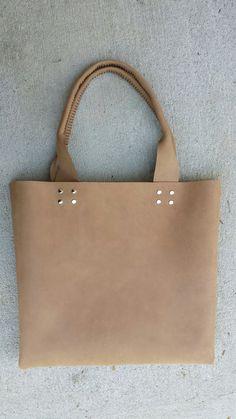 HandSewn Riveted Handle Utility Leather by jenbarrleathergoods, $210.00