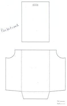 Pocket Fold Envelope Template  Bcards    Pocket