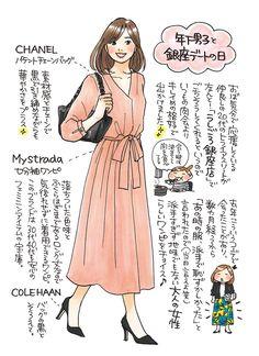 Style Asian Fashion, Fashion Art, Fashion Beauty, Girl Fashion, Womens Fashion, Chic Outfits, Fashion Outfits, Fasion, Sketches Of People