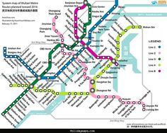 cool Dalian Subway Map