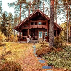Log Home Living, Getaway Cabins, Cabin In The Woods, A Frame Cabin, Little Cabin, Log Cabin Homes, Forest House, Cabins And Cottages, Gothic House