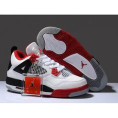 6008335e50b1c4 Buy New Zealand Hot Sell Discount Nike Air Jordan 4 Iv Retro Womens Shoes  White Red Black from Reliable New Zealand Hot Sell Discount Nike Air Jordan  4 Iv ...