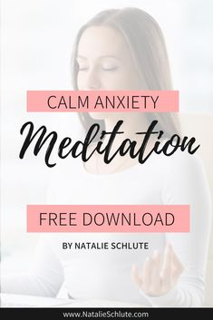 Anxiety starts with your thoughts. When your thoughts are out of alignment, you energy becomes out of alignment, and then you feel anxiety. This can be a periodic things or a daily repeptition. You've memorized your state of anxiety. It's time to memorize being calm. Train your mind and body to be calm with this free guided meditation. Download it to your phone and listen daily. #anxiety Calm Meditation, Free Guided Meditation, Meditation For Beginners, Train Your Mind, Mindfulness Activities, Spiritual Health, Self Care Routine, Mindful Living, Understanding Yourself