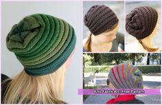 Knit Wurm Beanie Hat Free Patterns: Knit Wurm Slouch Beanie Hat Free Pattern for kids, adult, unisex
