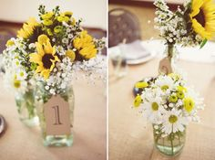 White And Yellow Rustic Wedding Bouquets