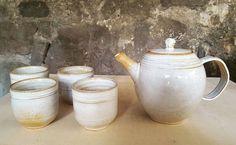 Juego de té.  Teapot set. Pottery wheel María Monasterio