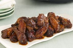 Saucy Slow-Cooker Party Wings recipe