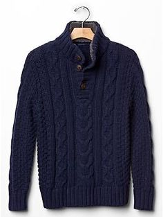 Cable knit sherpa sweater-Dean