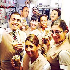 Cheers!  This was easily one of the best crews I've ever flown with. I was so tired on this last leg but their energy lifted me again and gave me wings! #iheartcabincrew #fly #dubai #myemiratesairline #emirates #Cabincrew #crewfie #crewlife #layover #Milan #_flightattendant by living_theflylife