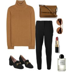Fashion Inspiration: Comfort and Style, Cashmere Turtleneck with Black Slim Trousers by Cool Chic Style Fashion