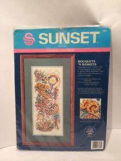 Sunset Bouquets 'N Baskets 13575 cross Stitch Kit 1993 Dimensions #Sunset