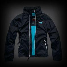 Hollister Orange County Jacket ジャケット 裏地がポップカラーになったお洒落なデザイン!ハイネックで暖かく着れます。ポケット付きで機能性も抜群。
