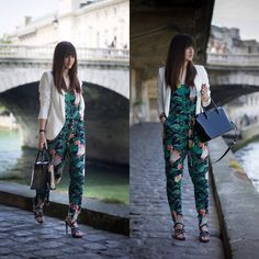 Ikks Jacket, Def Shop Floral Jumpsuit, Florian London Black Bag