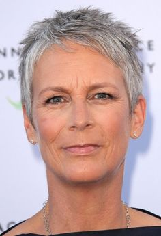 Pixie Haircuts For Women Over 50 | Jamie Lee Curtis Short Haircut for Women Over 50 / via