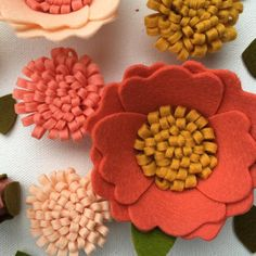 Up close and personal! #flowers #handmade #feltflowers #etsy #handmadehotspot