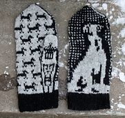 Ravelry: Umber the Jack Russell pattern by Lena Bergsman Mittens Pattern, Knit Mittens, Mitten Gloves, Knitted Hats, Fair Isle Knitting Patterns, Knitting Charts, Free Knitting, Crochet Patterns, Wrist Warmers