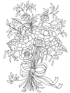 Mothers Day Flowers Coloring Pages