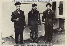 1941. When during fighting between NSB WA-members and a Jewish mob near the Rembrandtplein in Amsterdam WA-member Hendrik Koot was killed Höhere SS-und Polizeiführer Rauter sent this photo of three members of a Jewish mob to Reichsführer-SS und Chef der Polizei Heinrich Himmler with the request to introduce harder measures. #amsterdam #worldwar2 #koot #rauter #himmler #amsterdam