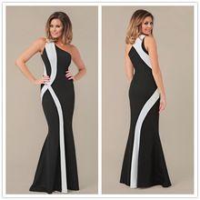 R70177 Best designed one shoulder solid womens dresses high quality floor-length  dress summer 2015 new ohyeah women long dress