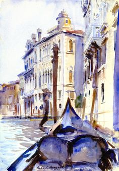 The Athenaeum - The Grand Canal, Venice (John Singer Sargent - ) 1909-1911