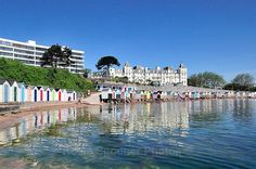 Early morning Reflections at Corbyn Head Cafe and Beach Huts - Greetings Cards Torquay (separate galleries for Meadfoot Beach and Cockington)