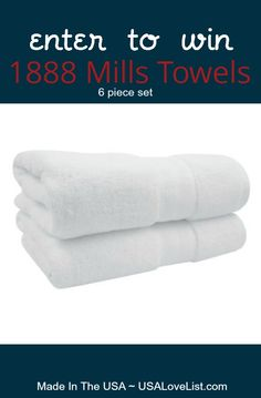 1888 Mills Towels Giveaway, American made towel collection.  #madeinUSA #giveaway Made in the USA!