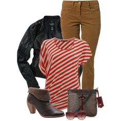 """Red & Brown"" by kswirsding on Polyvore"