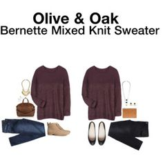 Bernette Mixed Knit Sweater - too boxy for me but material was very, very soft...beautiful color too.