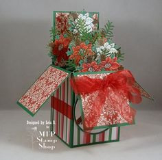 WT543 Christmas Pop-Up Box by Clownmom - Cards and Paper Crafts at Splitcoaststampers