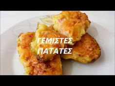 potatoes with ham and cheese! Ham And Cheese, Tasty Dishes, Potatoes, Chicken, Meat, Recipes, Food, Youtube, Greek Recipes