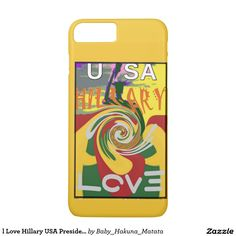l Love Hillary USA President Stronger Together red #Hillary #iPhone 7 #Plus #Cases & #Covers #HillaryClinton,  #2016
