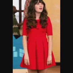 ✨New Girl Red dress✨ZARA✨ Exact same dress as seen on New Girl. So cute!! I just don't wear it anymore.. In great condition!! Zara Dresses