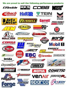 Performance car parts brands Decal Printer, Printer Paper, English Fonts, Performance Auto Parts, Jada Toys, Bully Dog, Logo Ideas, Model Trains, Car Parts