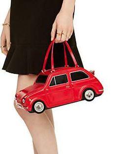 Another Kate Spade winner - Rose-coloured glasses red car bag. Unique Handbags, Unique Purses, Unique Bags, Cute Purses, Purses And Bags, Women's Handbags, Novelty Handbags, Novelty Bags, Rose Colored Glasses