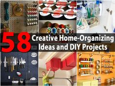 Organizing is great. I mean, without it you have those episodes of never being able to find what you need or not knowing where to put things when you buy them. While there are tons of products that you can buy that are designed to help you to get your home organized, we like the DIY...