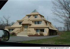 Resultado de imagen para como construir una casa en forma de piramide