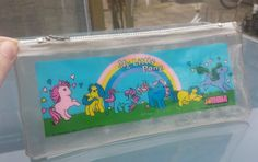 My Little Pony pencil case . 90s Childhood, Childhood Memories, Clear Pencil Case, Care Bears Vintage, Vintage My Little Pony, My Little Pony Merchandise, Special Interest, Ol Days, Over The Rainbow