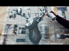 Deer Head 3D - PaperCraft DIY - How To Make - YouTube