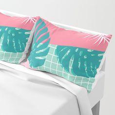 Palm Springs #society6 #decor #buyart Pillow Sham