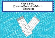 YR1&2 Common Exception Word Spelling Bookmarks