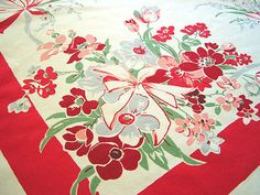 Love, love, love vintage table cloths