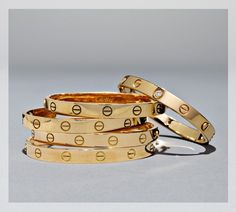 Cartier Love Bracelets $5,850 each.. I love these maybe I can talk Mike into buying me one or two Lol.. LOVE THEM!!