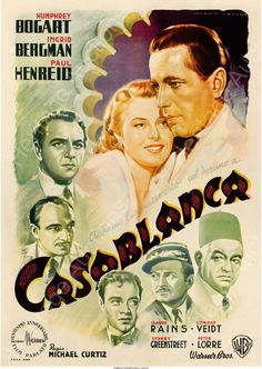 "Opening bid: 90,000 USD - Casablanca (Warner Brothers, 1946). First Post-War Release Italian 4 - Fogli (55.5"" X 78.25"")"