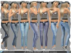 The Sims Resource: La Ciara Skinny Jeans by Devilicious • Sims 4 Downloads