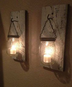 10 Clever DIY Candle Holders is part of Diy candles - wood Decoration Candle Mason Jars 10 Clever DIY Candle Holders