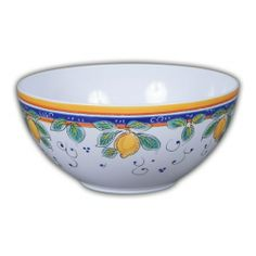 Picnic Alcantara Salad Bowl.  Heavy duty Melamine  with Italian pattern and perfect for outdoor dining!