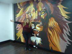 Mi amado Rey leon de la tribu de Judah Muralista Sonia Velasco Cel-Whatsapp:310-88056662