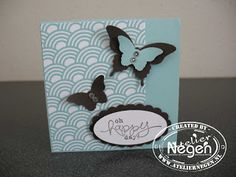 Stampin' Up! Elegant Butterfly punch, Bitty Butterfly punch, Scallop Oval punch, Oval punch, Bloomin' Marvelous Stamp set