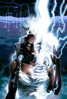 Storm, Ororo Munroe, X-men  fan art by Fabian Schlaga.