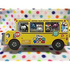 Amazon.com: Disney Tsum Tsum Metallic Limited Edition Figures School Bus Pack: Toys & Games